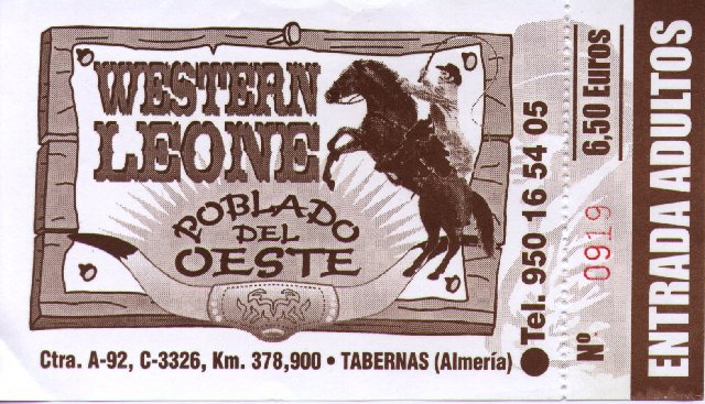 Western Leone entrance ticket